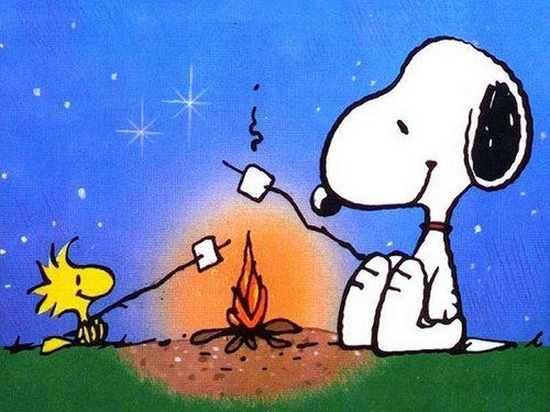 CAMPING-SNOOPY